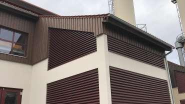 Fassade Boden und Deckenschachtelung